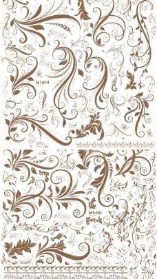 一些欧洲古典花纹矢量素材