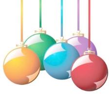 2精美圣誕掛球EPS矢量素材