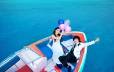 水上婚纱摄影图片