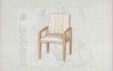 酒店风格家具椅子A0083D模型