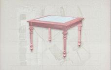 酒店风格家具桌子0243D模型