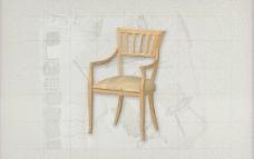 酒店风格家具椅子A0043D模型