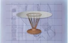 酒店风格家具桌子0023D模型