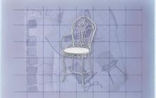 酒店风格家具椅子A0203D模型