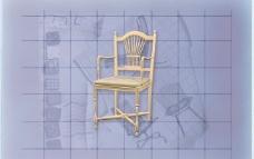酒店风格家具椅子A0223D模型