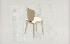 酒店风格家具椅子B0463D模型