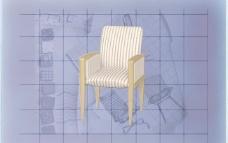 酒店风格家具椅子A0023D模型