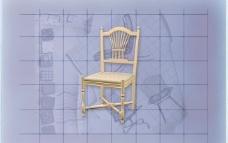 酒店风格家具椅子A0213D模型