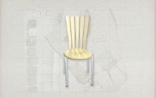 酒店风格家具椅子B0483D模型