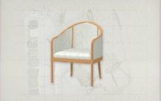 酒店风格家具椅子A0113D模型