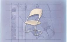 酒店风格家具椅子B0433D模型