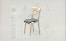 酒店风格家具椅子B0513D模型