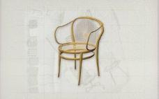 酒店风格家具椅子A0163D模型