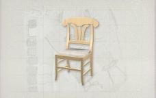 酒店风格家具椅子A0193D模型