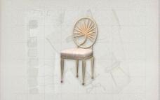 酒店风格家具椅子B0363D模型