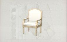 酒店风格家具椅子B0403D模型