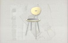 酒店风格家具椅子B0503D模型