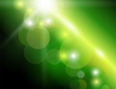 太陽發光的綠色背景虛化的抽象背景矢量