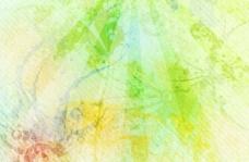 褪色的綠色自然垃圾背景JPG