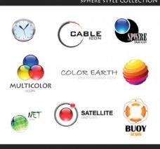 8矢量球形标识类型