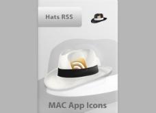 漂亮的帽子RSS MAC应用社会图标