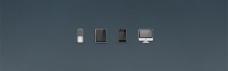 最小的iPod,iPhone ipad,iMac图标psd