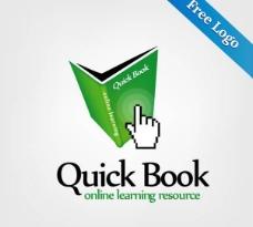 快速的书在线学习矢量标识