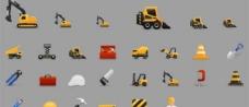 25施工设备的图标集