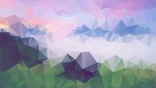 多边形摘要山的背景
