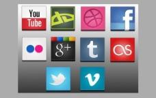 10平方的3D社交媒体图标png