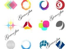12艺术色彩的形状矢量图标集
