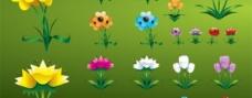 五颜六色的鲜花的图标