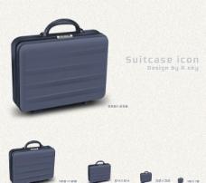 固体的手提箱或公文包图标