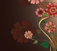 独特的花卉背景矢量