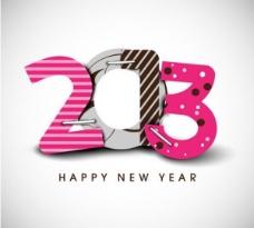 时髦的复古2013新年矢量标志