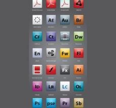 108光滑Adobe替换图标包