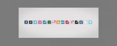建立社会媒体图标psd