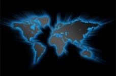 3蓝色发光的世界地图背景