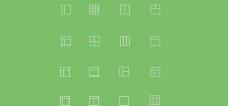 16个简单的矢量布局图标的样式设置