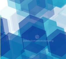 蓝色六边形瓷砖背景