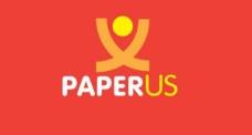 干净的抽象paperus矢量标志