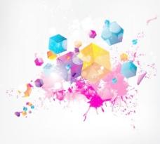 时尚的色彩背景矢量素材01