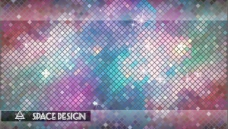 时尚和霓虹色背景矢量素材05