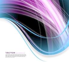 彩色线条背景矢量素材02