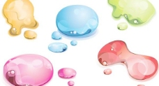 多姿多彩的图案矢量素材痕迹的水滴