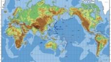 丰富多彩的世界地图矢量地形