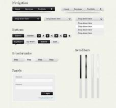 清洁现代Web UI设置PSD