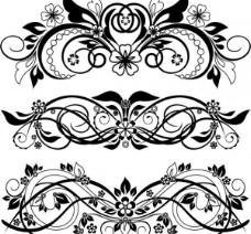4高度详细的矢量花饰品