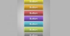 7清爽洁净的Web 2按钮设置PSD