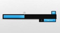 光滑的黑色进步负荷杆PSD